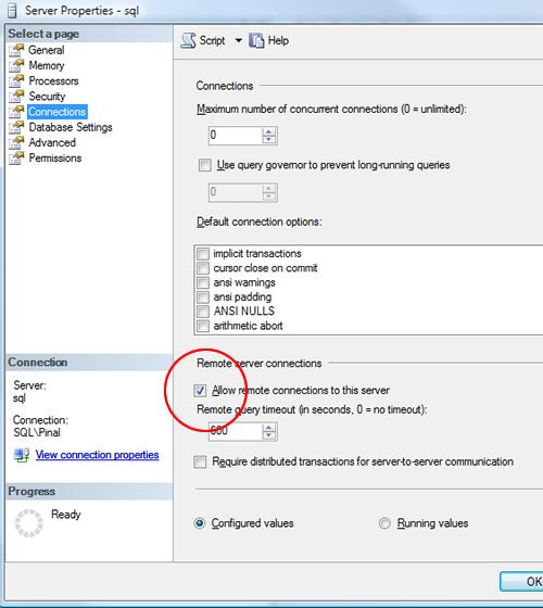 SQL SERVER - FIX : ERROR : (provider: Named Pipes Provider, error: 40 - Could not open a connection to SQL Server) (Microsoft SQL Server, Error: ) e40_10