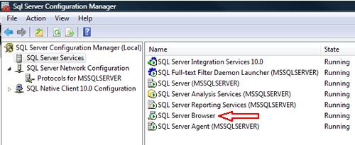 SQL SERVER - FIX : ERROR : (provider: Named Pipes Provider, error: 40 - Could not open a connection to SQL Server) (Microsoft SQL Server, Error: ) e40_8