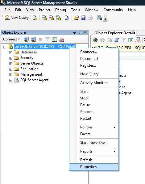 SQL SERVER - FIX : ERROR : (provider: Named Pipes Provider, error: 40 - Could not open a connection to SQL Server) (Microsoft SQL Server, Error: ) e40_9