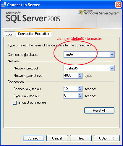 SQL SERVER - Fix : Error: 4064 - Cannot open user default database. Login failed. Login failed for user error4064_2
