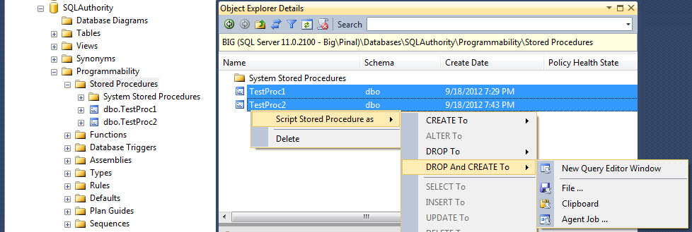 SQL SERVER - Replace a Column Name in Multiple Stored Procedure All Together findreplace