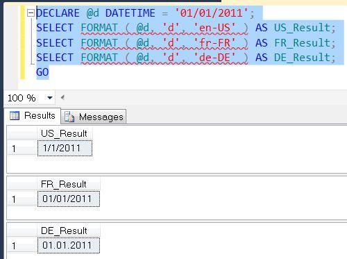 SQL SERVER - Denali - String Function - FORMAT() - A Quick Introduction format1