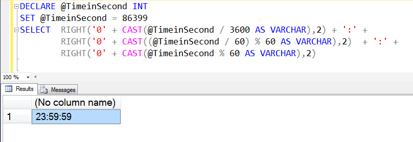 SQL SERVER - Convert Seconds to Hour : Minute : Seconds Format hms