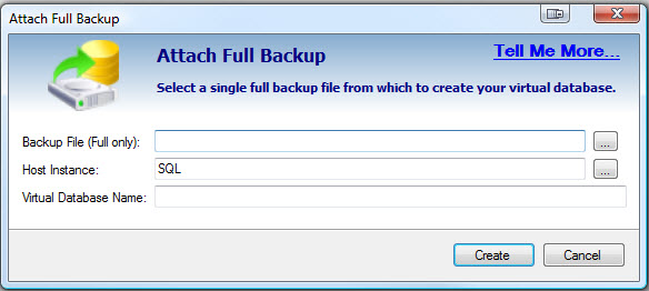 SQL SERVER - Retrieve and Explore Database Backup without Restoring Database - Idera virtual database vdb3