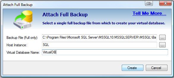 SQL SERVER - Retrieve and Explore Database Backup without Restoring Database - Idera virtual database vdb5