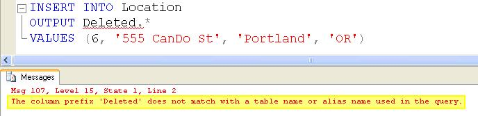 SQL SERVER - Tips from the SQL Joes 2 Pros Development Series - Output Clause in Simple Examples - Day 14 of 35 j2p_14_4
