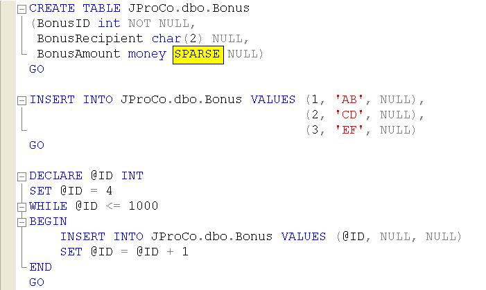 SQL SERVER - Tips from the SQL Joes 2 Pros Development Series - Sparse Data and Space Used by Sparse Data - Day 17 of 35 j2p_17_9