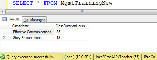 SQL SERVER - Tips from the SQL Joes 2 Pros Development Series - Table-Valued Store Procedure Parameters - Day 25 of 35 j2p_25_4