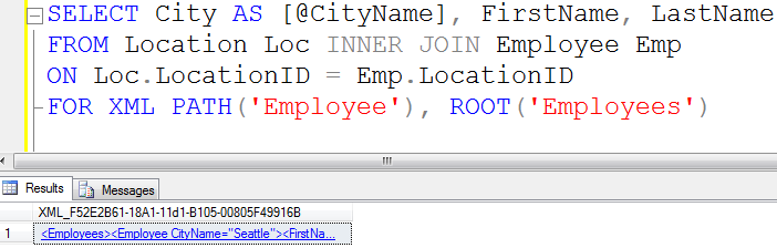 SQL SERVER - Tips from the SQL Joes 2 Pros Development Series - Using Root With Auto XML Mode - Day 32 of 35 j2p_32_11