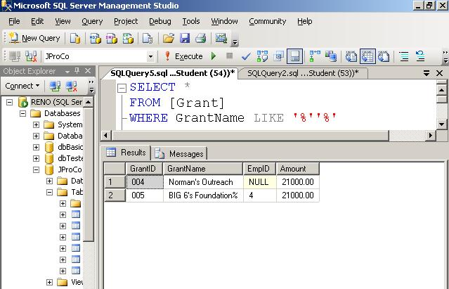 SQL SERVER - Tips from the SQL Joes 2 Pros Development Series - Finding Apostrophes in String and Text - Day 3 of 35 j2p_3_2