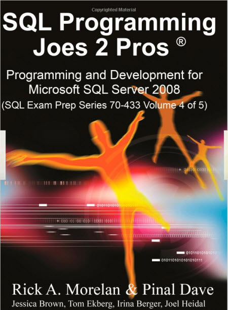 SQL SERVER - Author's Book is Available in India and USA joes2pros4