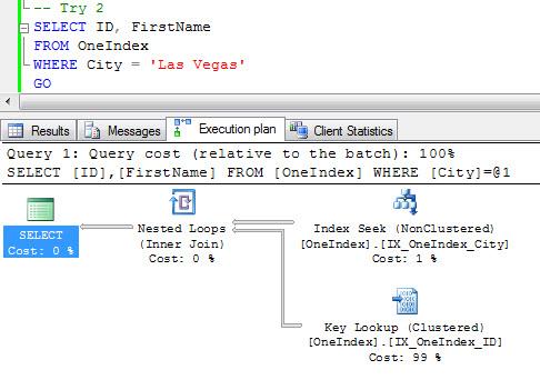 SQL SERVER - Query Optimization - Remove Bookmark Lookup - Remove RID Lookup - Remove Key Lookup keylook3