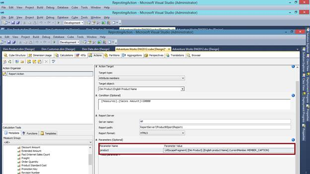 SQL SERVER - What are Actions in SSAS and How to Make a Reporting Action kssas-6
