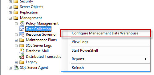 SQL SERVER - Configure Management Data Collection in Quick Steps - T-SQL Tuesday #005 mdw1