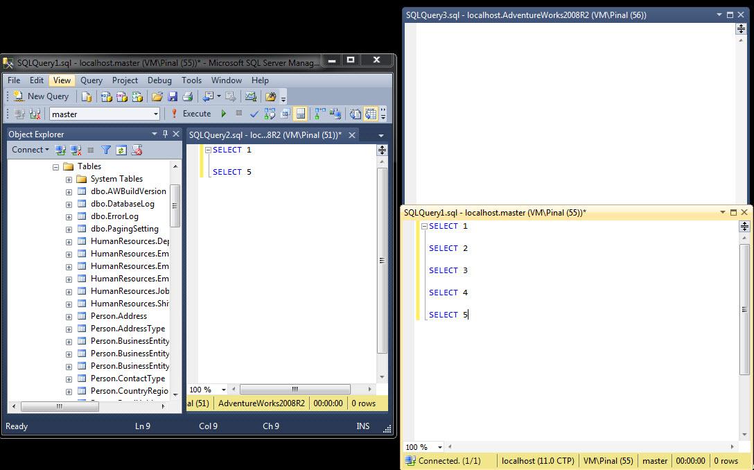 SQL SERVER - Denali - Multi-Monitor SSMS Windows multiserver