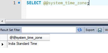 MySQL - How to Detect Current Time Zone Name in MySQL timezone