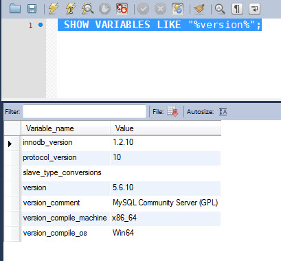 MYSQL - Identifying Current Version of MySQL Server Installation - Part 2 version