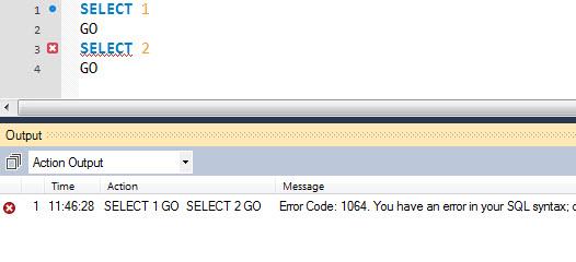 MySQL - How to Change Delimiter in MySQL - Supporting GO Keyword of SQL Server in MySQL mysqlgo1