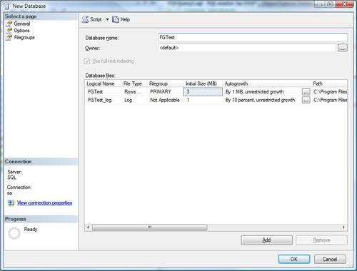 SQL SERVER - Create Multiple Filegroup For Single Database ndf1