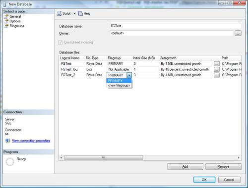 SQL SERVER - Create Multiple Filegroup For Single Database ndf2