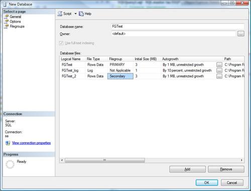 SQL SERVER - Create Multiple Filegroup For Single Database ndf4