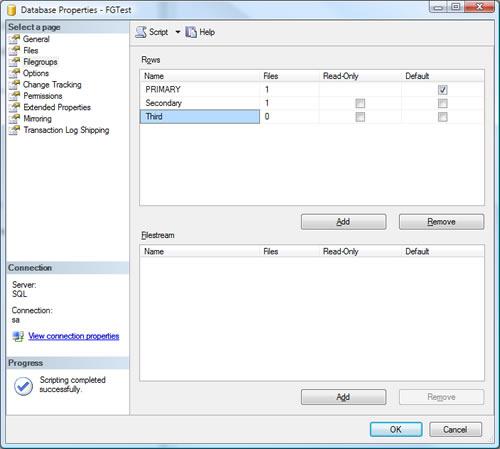 SQL SERVER - Create Multiple Filegroup For Single Database ndf5