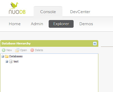 SQL - Quick Start with Explorer Sections of NuoDB - Query NuoDB Database 18