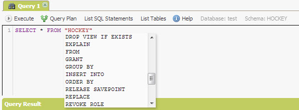 SQL - Quick Start with Explorer Sections of NuoDB - Query NuoDB Database 26