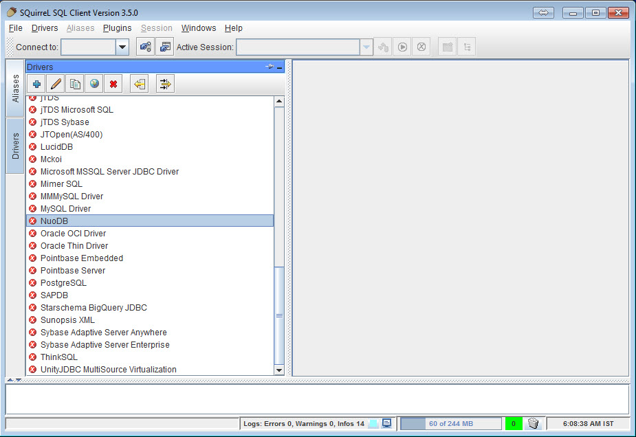 SQL - NuoDB and Third Party Explorer - SQuirreL SQL Client, SQL Workbench/J and DbVisualizer a1
