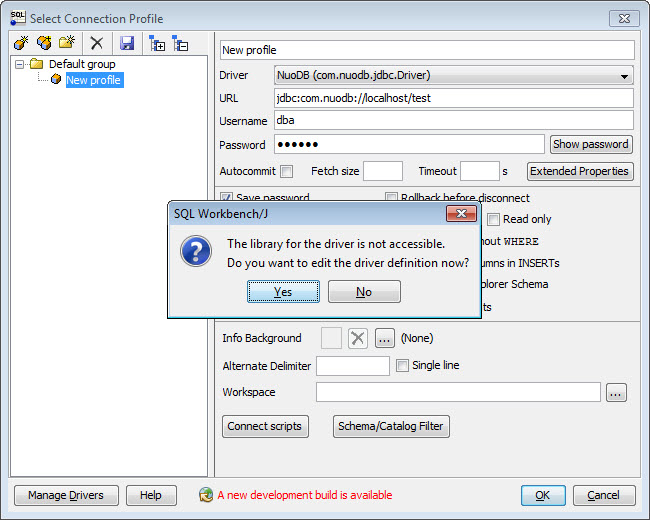 SQL - NuoDB and Third Party Explorer - SQuirreL SQL Client, SQL Workbench/J and DbVisualizer b2