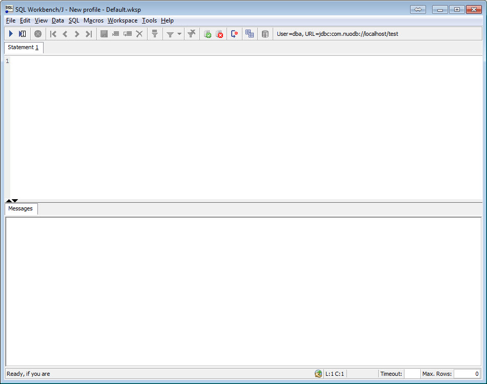 SQL - NuoDB and Third Party Explorer - SQuirreL SQL Client, SQL Workbench/J and DbVisualizer b4
