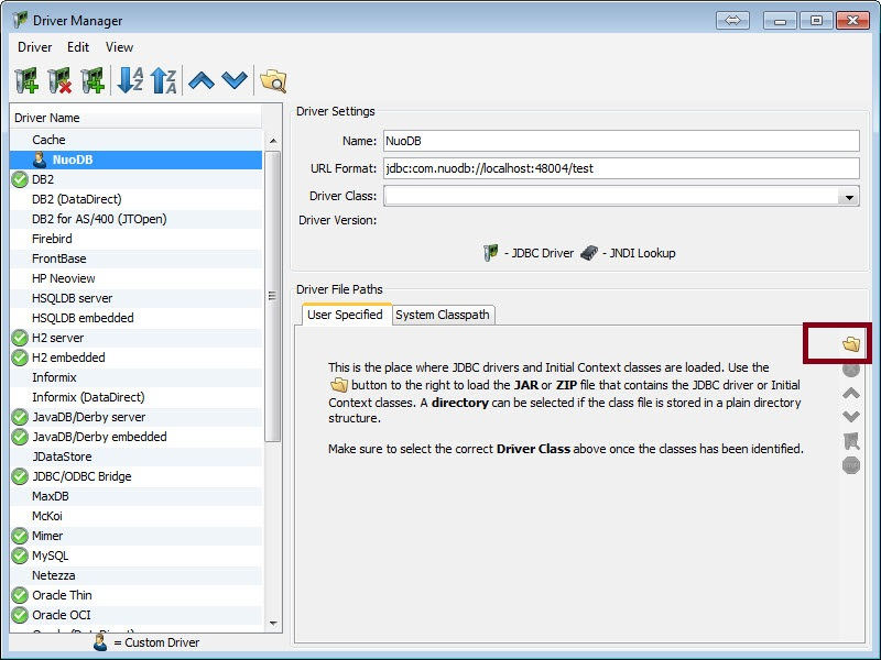 SQL - NuoDB and Third Party Explorer - SQuirreL SQL Client, SQL Workbench/J and DbVisualizer c3