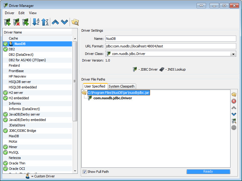 SQL - NuoDB and Third Party Explorer - SQuirreL SQL Client, SQL Workbench/J and DbVisualizer c4
