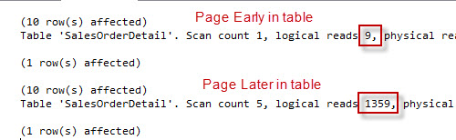 SQL SERVER - Server Side Paging in SQL Server Denali Performance Comparison paging1