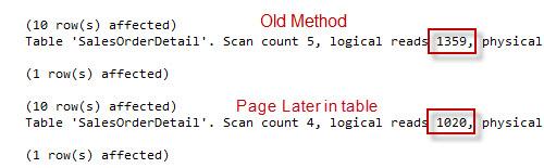 SQL SERVER - Server Side Paging in SQL Server Denali Performance Comparison paging3