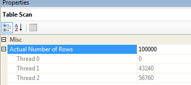 SQL SERVER - Parallelism - Row per Processor - Row per Thread paral3