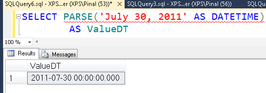 SQL SERVER - Denali - Conversion Function - PARSE() - A Quick Introduction parse4