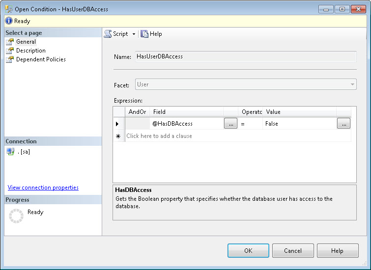 SQL SERVER - Identifying Guest User using Policy Based Management pbm2-2