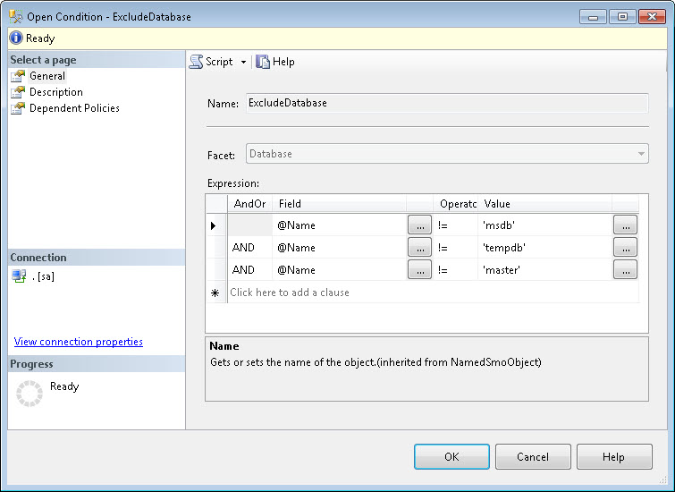 SQL SERVER - Identifying Guest User using Policy Based Management pbm2-3