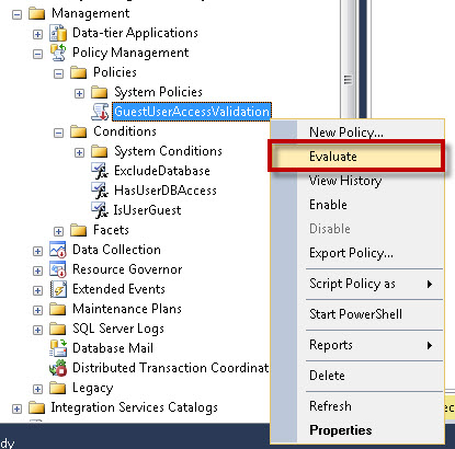 SQL SERVER - Identifying Guest User using Policy Based Management pbm6