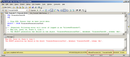 SQL SERVER - Securing TRUNCATE Permissions in SQL Server permissions4