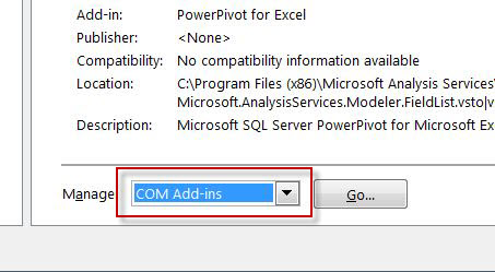 SQL SERVER - Enable PowerPivot Plugin in Excel pp4