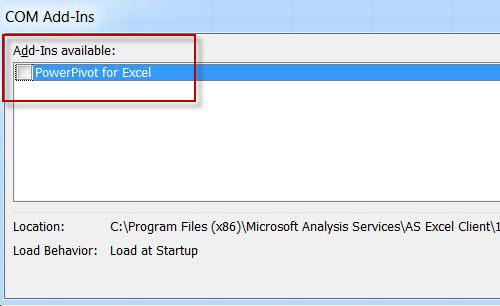 SQL SERVER - Enable PowerPivot Plugin in Excel pp5