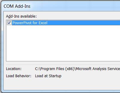 SQL SERVER - Enable PowerPivot Plugin in Excel pp6