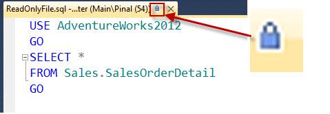 SQL SERVER - Read Only Files and SQL Server Management Studio (SSMS) readonly2