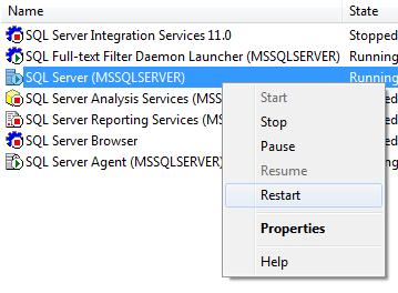 SQL SERVER - DQS Error - Cannot connect to server - A .NET Framework error occurred during execution restartservices