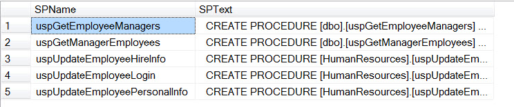 SQL SERVER - Find Column Used in Stored Procedure - Search Stored Procedure for Column Name  resultfindcolumninsp