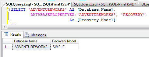 SQL SERVER - Four Different Ways to Find Recovery Model for Database rm4