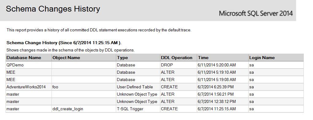 SQL SERVER - SSMS: Schema Change History Report schema-change-history-2