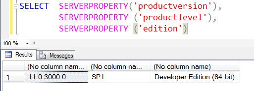 SQL SERVER - A List of Various SQL Server RTM and Service Pack Number serverproperty